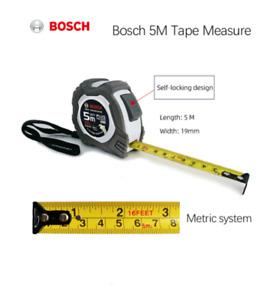Bosch Steel Tape Measure 5M Telescopic Metric Soft Ruler Measuring Tool Portable