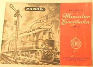 vtg MINIATURE TRAIN RAILROAD catalog track layout book Marklin German 00