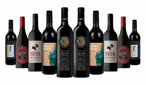 Aussie Classic Red Mix Wines Incl Red Kangaroo Reserve 10x750ml Free S/R