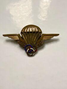 Ancien insigne militaire Brevet de moniteur de parachutisme Drago n° 00560