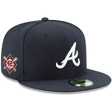 Atlanta Braves New Era Jackie Robinson Day Sidepatch 59FIFTY Fitted Hat - Navy