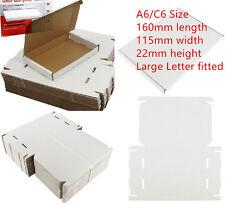 100 x WHITE C6 A6 BOX 115x160x22mm ROYAL MAIL LARGE LETTER POSTAL CARDBOARD PIP