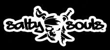 Salty Souls Pirate Skull & Swords Sticker Decal Beach Salt Surfing Fishing Life