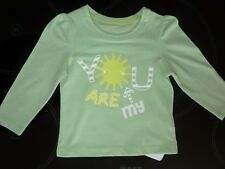 YOU ARE MY SUNSHINE Little Girls Green Long Sleeve Top NWT