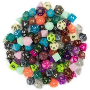 100+ Mixed Random Bulk Lot Wiz Dice DND Polyhedral Gaming Dice (Series 3 Colors)
