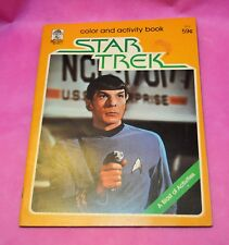 STAR TREK Coloring Book 1979 unused SCI-FI Science FICTION Spock RARE Vintage