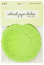 Sew Easy Industries 25 Doilies 4 x 4 - Bright Green