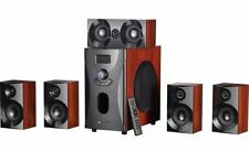 Surround-Sound-System 5.1 Wood Home Cinema 160 Watt Mp3 Radio Subwoofer Speakers