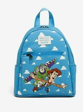NWT Disney Toy Story, BUZZ & WOODY MINI Faux Leather Backpack NEW! LOUNGEFLY!