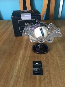Newgrange Living Amy Ball Candle Bowl (Purple Base) (1031341) New Candle Boxed