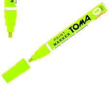Permanente Neon Amarillo Base de Aceite Pintura Pluma Marcador De Metal Neumático De Bicicleta Coche Impermeable