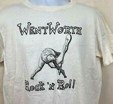 Vintage WentWorth Rock 'N Roll Mens T Shirt White Single Stitch School Bands M L