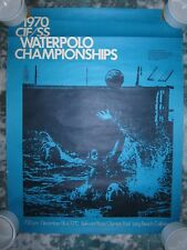 "Vtg 1970 CIF/SS Waterpolo Championships poster, photo by Raymond Bock, 17"" x 22"""