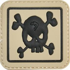 VIPER PVC Skull Patch Special Forces Badge Airsoft Tactical Morale CROSSBONES
