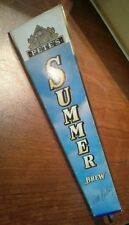 "Pete's Summer Brew Triangle Acrylic 12"" Beer Tap Handle Bar Keg Vintage"
