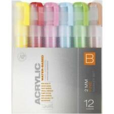 MONTANA  2mm (Fine) Acrylic Paint Markers - 12 Pk - SET B - NEW - Free Shipping