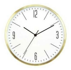 """PROJECT 62 Round Wall Or Table Clock Brass Finish 5.8"""" in Diameter"""