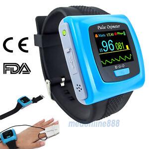 CE&FDA Wrist Watch Pulse Oximeter 24h SPO2 Heart Rate Monitor USB PC Software