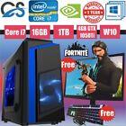 Cit F3 Rgb Gaming Computer Pc Bundle Intel I7 2600 16gb 1tb Gtx1050ti 19'' Led