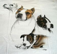 "American Staffordshire Terrier T-shirt "" White "" Sm ( 34 ~ 36 )"