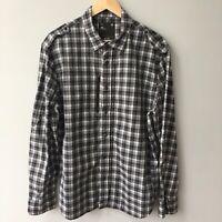 GStar Raw Mens Black Check Over Shirt 'HOUSTON PREP' Long Sleeve Zip Front 2XL
