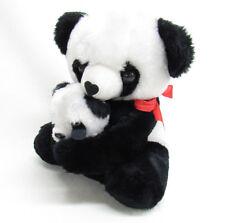 VTG PANDA TEDDY BEAR MAMA HUGGING BABY KOREA STUFFED PLUSH ANIMAL