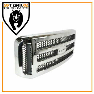 Brand New Chrome Grille Fits 2005 2006 2007 Ford F250 F350 F450 FO1200456