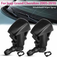 2X Tergicristallo Lavavetro Ugello 55372143-AB Per Jeep Grand Cherokee 2005-2010