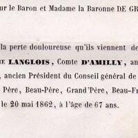 Jules Hyacinthe Langlois D'Amilly Paris 1862 Orne