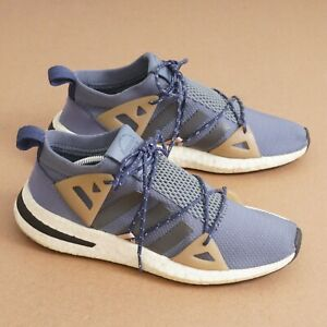 Adidas Womens Arkyn 'Steel' Running Sneaker Shoes Size 6.5 Blue Fabric DA9606
