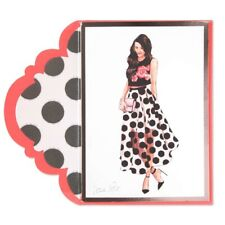 """""""Polka-Dot Skirt and Crop"""" Blank Card by Lela Rose- Papyrus Unique MSRP $7.95"""