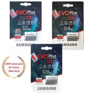 Samsung Plus 32/64/128GB microSD SDXC Class 10 memory card Upto 100MB/S +Adapter