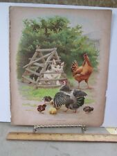 Vintage Print,PUSSY,A PRISONER,Chromo,Holidays at Farm,Nister,c1890