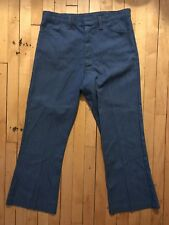 Deadstock Vintage Koratron Blue Work Uniform Pants w/ Talon Zipper & Fastener