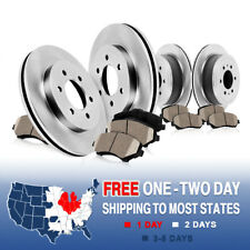 Front & Rear Rotors + Ceramic Pads Kit Buick Enclave Chevy Traverse Outlook