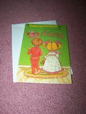 Santa & Reindeer Children's Christmas Card Paper Doll Greeting Card, Vintage New