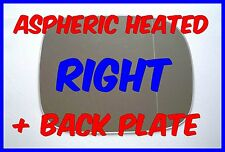 VAUXHALL FRONTERA 1998-2004 RIGHT DOOR MIRROR GLASS ASPHERIC  HEATED BACK PLATE