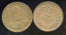 COLOMBIE 2 pesos  1977