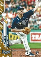 2020 Brendan McKay Gold Stars RC Topps Series 1 #69 Tampa Bay Rays Rookie Card