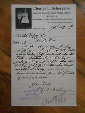 Antique 1903 Charles L Schergens Undertaker Embalmer Furniture Tell City Indiana