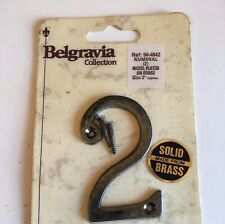Brass 3 Inch Number 2 Door Number Belgravia