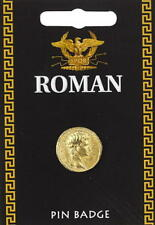 Roman Gold Coin Pin Badge - Fine British Made Pewter