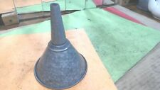 Vintage- Galvanized tin Funnel-with fine Screen Filter- good shape