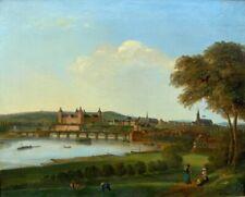 Ölgemälde, Carl Richard, Blick auf Aschaffenburg - Ansicht über den Main