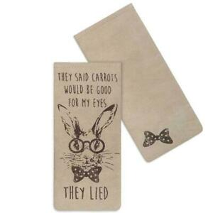 """CTW Backroads Textile """"They Lied"""" Eye Glasses Case with Rabbit Motif"""