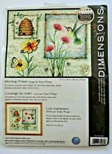 Dimensions Counted Cross Stitch Kit Morning Praise Sealed Hummingbird Butterfly