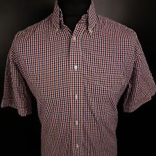 Abercrombie & Fitch Mens Shirt LARGE Short Sleeve Regular Fit Check Cotton