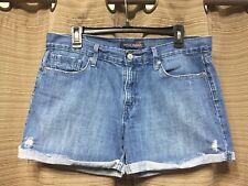 Womens Juniors Levis Cut Off Jean Shorts Medium Wash Sz 11