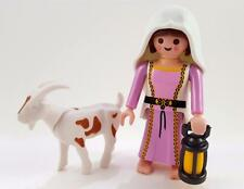 MEDIEVAL MAID with GOAT / COUNTRY FARM HOUSE LADY FIGURE Playmobil