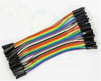 40Pcs Dupont 10Cm Male To Male Jumper Wire Ribbon Cable For Breadboard Arduino w
